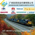 Railway FCL container transport from China to Central Asia,Russia,Europe