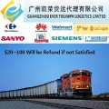 Railway transport services from China to Tajikistan station